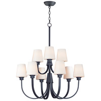 Maxim 11826SWBK Shelter 9 Light 30 inch Black Chandelier Ceiling Light