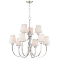 Maxim 11826SWSN Shelter 9 Light 30 inch Satin Nickel Chandelier Ceiling Light