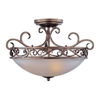 Maxim Lighting Hampton 3 Light Semi Flush Mount in Auburn Dusk 12021FTAD