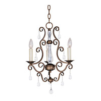 Maxim Lighting Hampton 3 Light Mini Chandelier in Auburn Dusk 12024AD