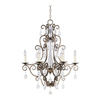 Maxim Lighting Hampton 6 Light Single Tier Chandelier in Auburn Dusk 12025AD