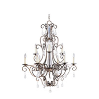 Maxim Lighting Hampton 9 Light Multi-Tier Chandelier in Auburn Dusk 12026AD