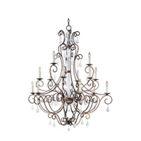 Maxim Lighting Hampton 15 Light Multi-Tier Chandelier in Auburn Dusk 12027AD