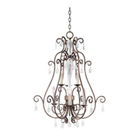 Maxim Lighting Hampton 6 Light Pendant in Auburn Dusk 12029AD