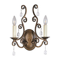 Maxim Lighting Hampton 2 Light Wall Sconce in Auburn Dusk 12032AD