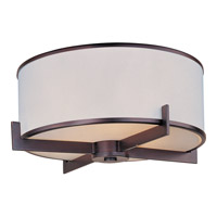 Maxim 12050WTOI Nexus 3 Light 18 inch Oil Rubbed Bronze Flush Mount Ceiling Light