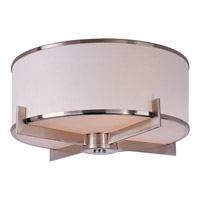 Maxim Lighting Nexus 3 Light Flush Mount in Satin Nickel 12050WTSN