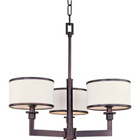 Nexus 3 Light 21 inch Oil Rubbed Bronze Mini Chandelier Ceiling Light