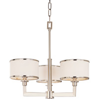Maxim 12054WTSN Nexus 3 Light 21 inch Satin Nickel Mini Chandelier Ceiling Light