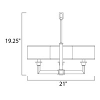 Maxim 12054WTOI Nexus 3 Light 21 inch Oil Rubbed Bronze Mini Chandelier Ceiling Light alternative photo thumbnail