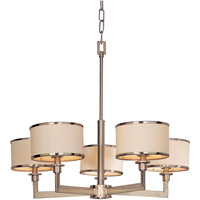 Nexus 5 Light 28 inch Satin Nickel Single Tier Chandelier Ceiling Light