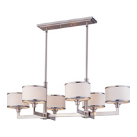 Nexus 6 Light 21 inch Satin Nickel Single Tier Chandelier Ceiling Light