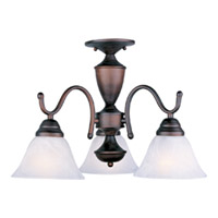 Maxim Lighting Newport 3 Light Mini Chandelier in Oil Rubbed Bronze 12061MROI