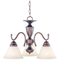 Maxim Lighting Newport 3 Light Mini Chandelier in Oil Rubbed Bronze 12061WSOI