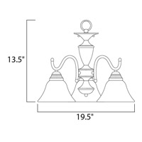 Maxim 12061MRSN Newport 3 Light 20 inch Satin Nickel Mini Chandelier Ceiling Light in Marble alternative photo thumbnail