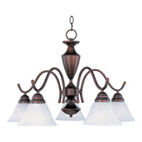 Maxim Lighting Newport 5 Light Down Light Chandelier in Oil Rubbed Bronze 12062MROI