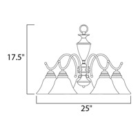 Maxim 12062MRSN Newport 5 Light 25 inch Satin Nickel Down Light Chandelier Ceiling Light alternative photo thumbnail