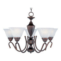 Maxim Lighting Newport 5 Light Single Tier Chandelier in Oil Rubbed Bronze 12063MROI