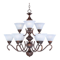 Maxim Lighting Newport 9 Light Multi-Tier Chandelier in Oil Rubbed Bronze 12065MROI