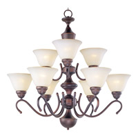 Maxim Lighting Newport 9 Light Multi-Tier Chandelier in Oil Rubbed Bronze 12065WSOI