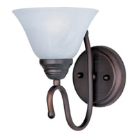Maxim Lighting Newport 1 Light Wall Sconce in Oil Rubbed Bronze 12066MROI