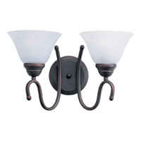 Maxim Lighting Newport 2 Light Bath Light in Oil Rubbed Bronze 12067MROI