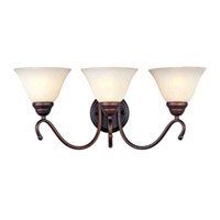 Maxim Lighting Newport 3 Light Bath Light in Oil Rubbed Bronze 12068WSOI photo thumbnail