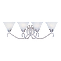 Newport 4 Light 31 inch Satin Nickel Bath Light Wall Light in Marble