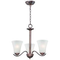 Maxim 12073FTOI Vital 3 Light 20 inch Oil Rubbed Bronze Chandelier Ceiling Light