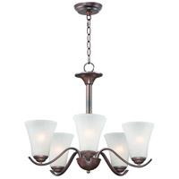 Maxim 12075FTOI Vital 5 Light 23 inch Oil Rubbed Bronze Chandelier Ceiling Light