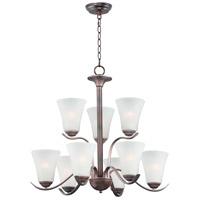 Maxim 12076FTOI Vital 9 Light 26 inch Oil Rubbed Bronze Chandelier Ceiling Light