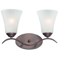 Maxim 12082FTOI Vital 2 Light 15 inch Oil Rubbed Bronze Bath Vanity Wall Light