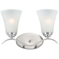 Maxim 12082FTSN Vital 2 Light 15 inch Satin Nickel Bath Vanity Wall Light