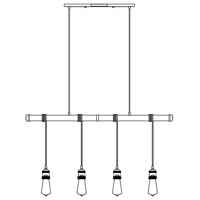Maxim 12135WZ/BUL-A52 Early Electric LED 5 inch Weathered Zinc Multi-Light Pendant Ceiling Light