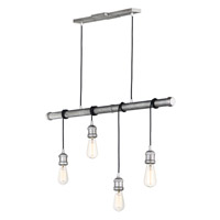 Early Electric 4 Light 5 inch Weathered Zinc Multi-Light Pendant Ceiling Light
