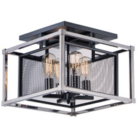 Maxim 12150BKPN Refine 4 Light 16 inch Black and Polished Nickel Semi-Flush Mount Ceiling Light