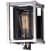 Maxim 12151BKPN Refine 1 Light 6 inch Black and Polished Nickel Wall Sconce Wall Light