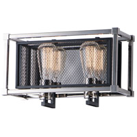 Maxim 12152BKPN Refine 2 Light 14 inch Black and Polished Nickel Bath Vanity Wall Light