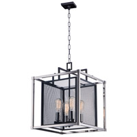 Maxim 12157BKPN Refine 4 Light 16 inch Black and Polished Nickel Single Pendant Ceiling Light