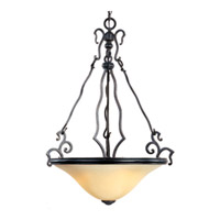 Maxim Lighting Castello 3 Light Pendant in Artesian Bronze 12165WCAT photo thumbnail