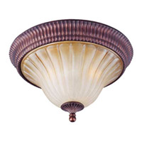 Maxim Lighting Provence 3 Light Flush Mount in Henna 12170MCHN