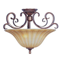 Maxim Lighting Provence 3 Light Semi-Flush Mount in Henna 12171MCHN