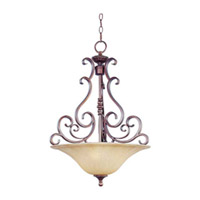 Maxim Lighting Provence 3 Light Pendant in Henna 12173MCHN