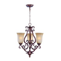 Maxim Lighting Provence 3 Light Mini Chandelier in Henna 12174MCHN