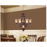 Maxim Lighting Provence 6 Light Multi-Tier Chandelier in Henna 12175MCHN photo thumbnail
