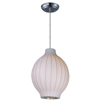 Maxim 12181WTPC Cocoon 1 Light 11 inch Polished Chrome Pendant Ceiling Light