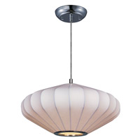 Maxim 12185WTPC Cocoon 1 Light 16 inch Polished Chrome Pendant Ceiling Light