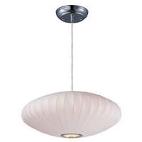 Maxim 12190WTPC Cocoon 1 Light 25 inch Polished Chrome Chandelier Ceiling Light