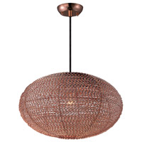 Maxim 12191CP Twisp 1 Light 20 inch Copper Pendant Ceiling Light
