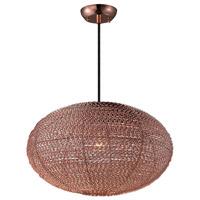 Maxim Lighting Twisp 1 Light Pendant in Copper 12191CP